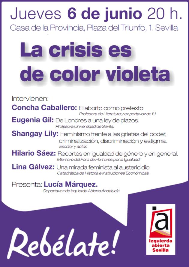 convocatoria de la crisis es de color violeta en sevilla el día 06 de junio.