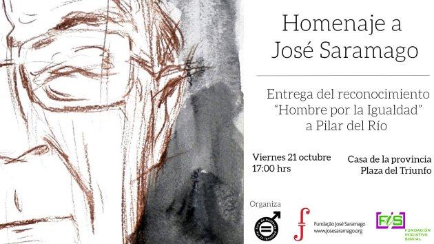 Homenaje a Saramago y Entrega Hombre por la Igualdad a Pilar del Río