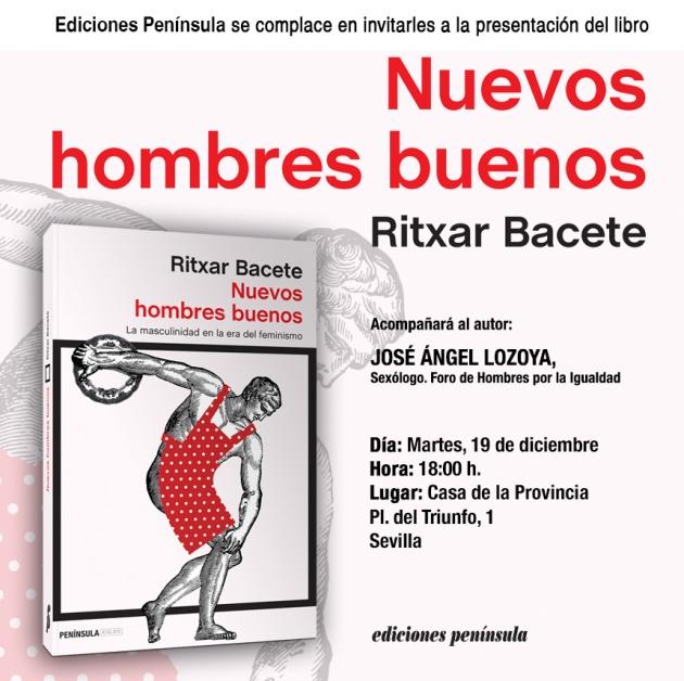 cartel presentación #nuevoshombresbuenos en sevilla el próximo 19 de diciembre
