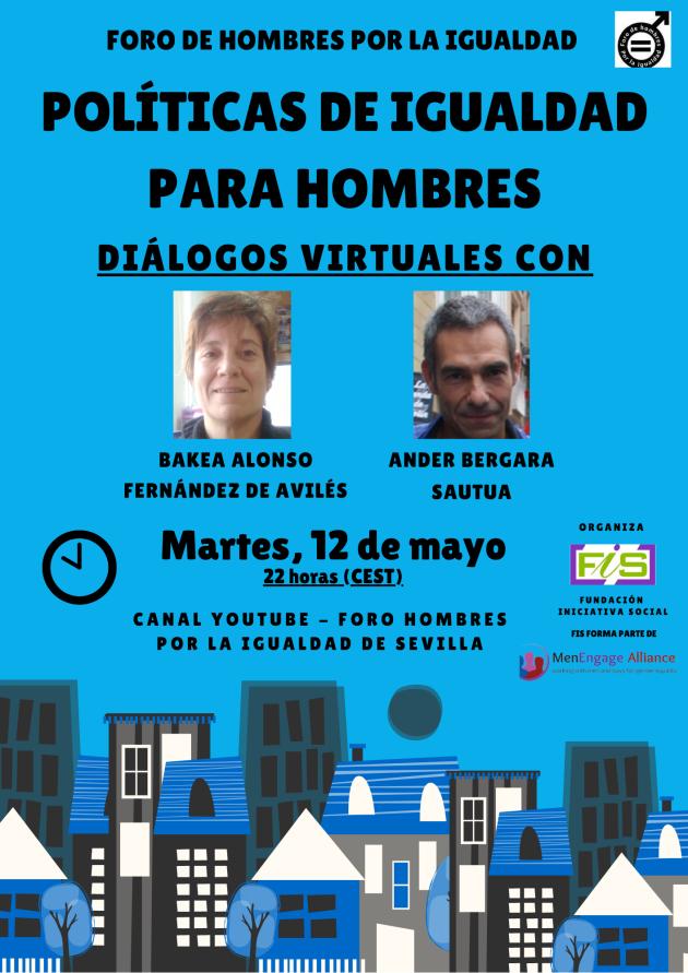 Cartel #DiálogosVirtuales 6: Políticas de Igualdad para hombres